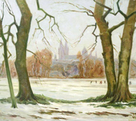 Caen La prairie sous la neige Bulot