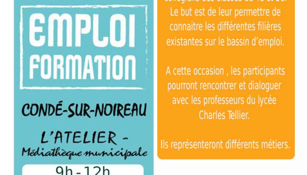 caebddd7d9585 Jeudi 19 octobre - Forum des métiers – L atelier Condé-sur-Noireau