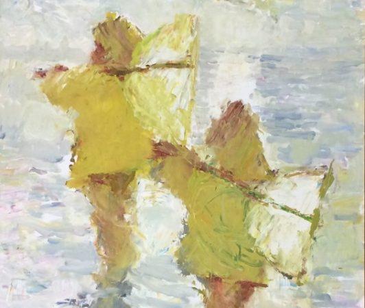 Les deux cirés jaunes - huile sur toile - Galerie Boudin, Honfleur