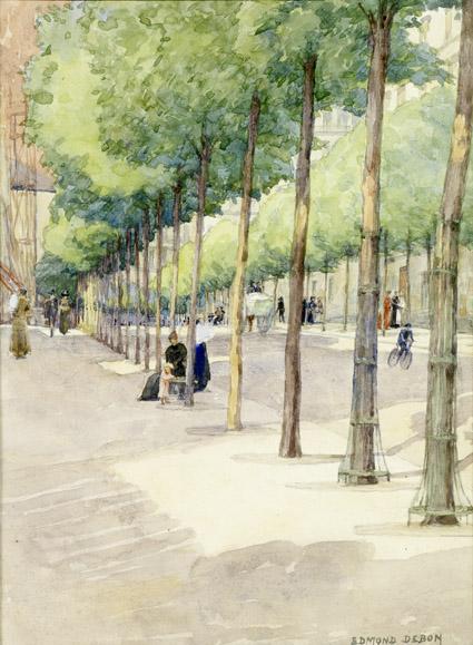Rue Caulaincourt - aquarelle - coll EMCL