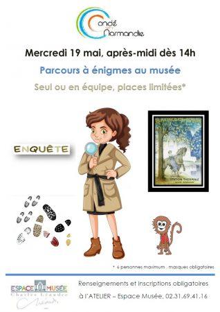 Affiche Enigmes au musée